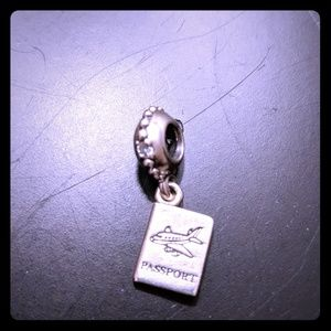 Authentic Pandora passport dangling charm